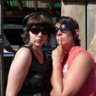 Amelia and Deb in Skagway