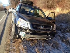 Julie Vance's car was stolen and wrecked. (Photo courtesy of Julie Vance)