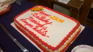 The Marine Corps birthday cake.
