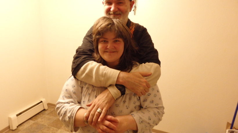 Roger and Judy Kley in their new Haines apartment.
