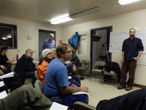 About 20 people attended the Wednesday Friends of Mosquito Lake School meeting.