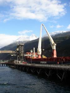 Skagway Ore Terminal and ship loader. Photo courtesy AIDEA.