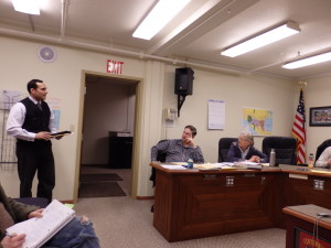 Borough Manager Dave Sosa eventually withdrew his request regarding classifying Mosquito Lake School for sale.