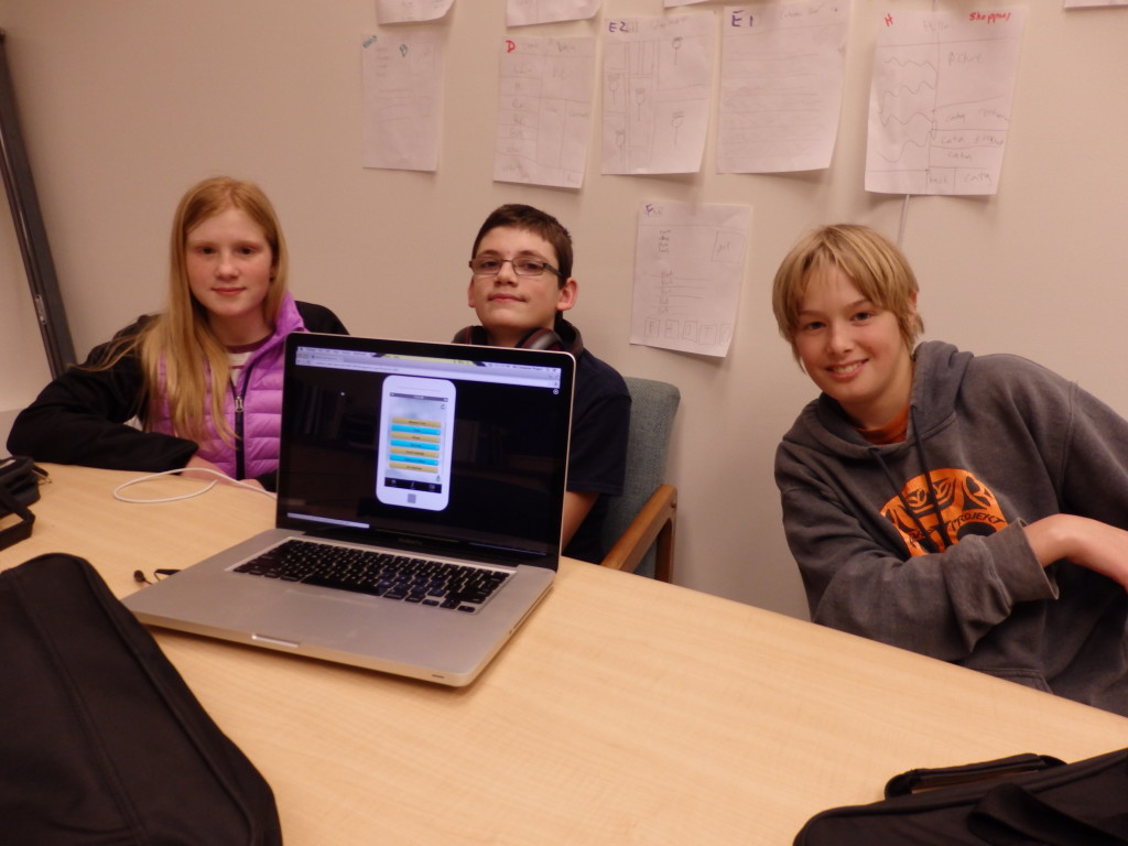 Marirose Evenden, Corbin Holm and Dylan Chapell are designing an app to inform visitors about Haines.