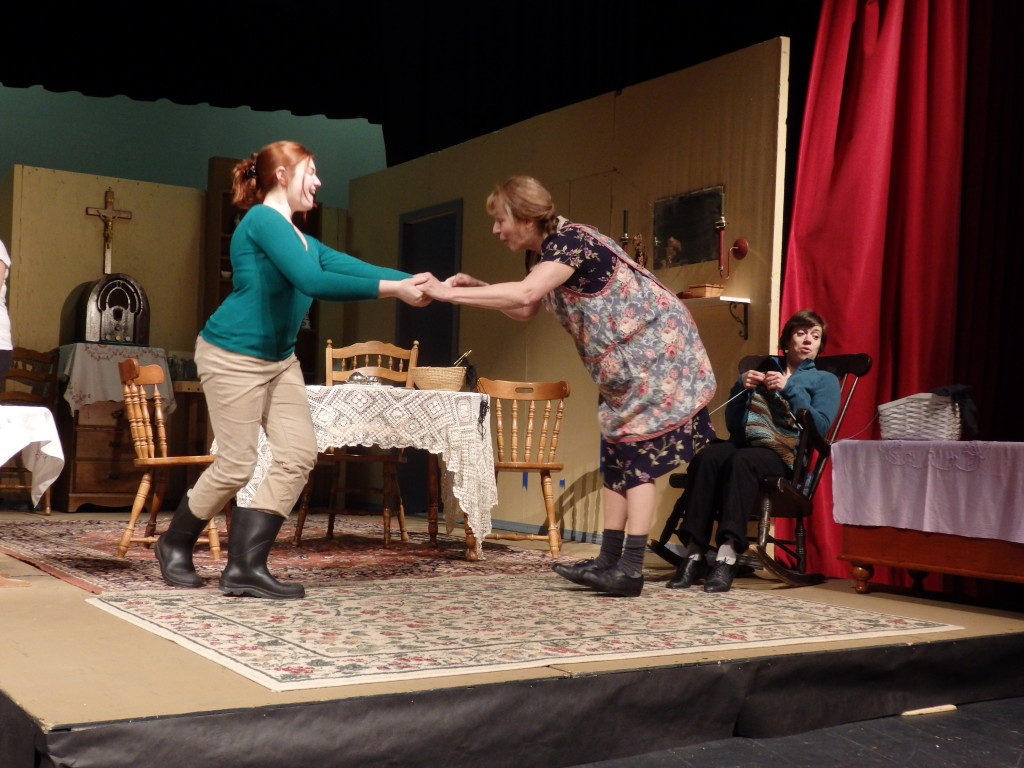 Michaela Chambers and Cheryl Mullins are Rose and Maggie Mundy in Dancing at Lughnasa.