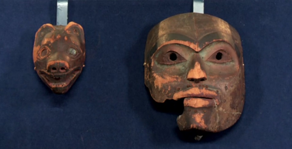 The Tlingit masks.