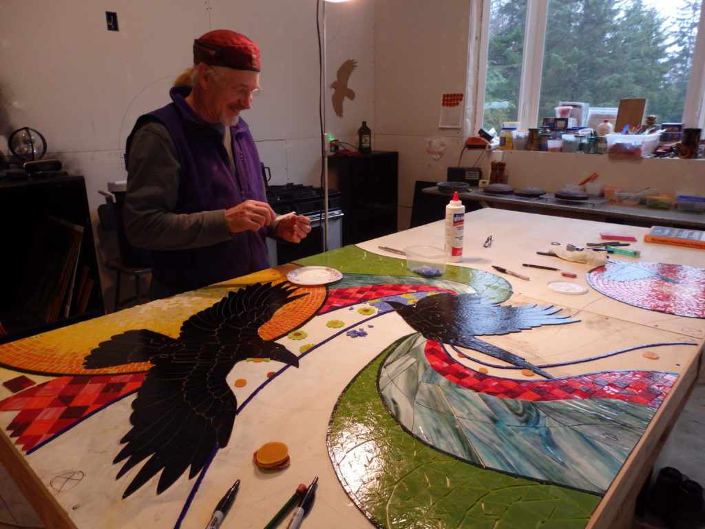 Haines artists collaborate on sixth Percent for Art mosaic