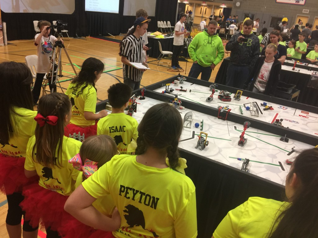 The Thought Bots at the Anchorage robotics competition. (Courtesy Heather Rodig)