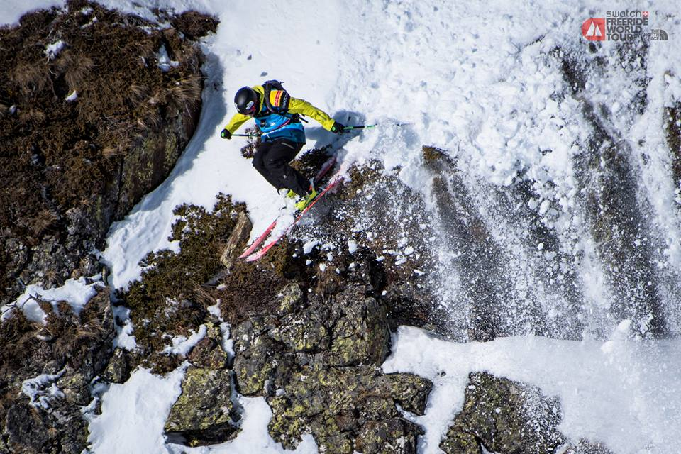 Competitor Sam Smoothy at the Freeride stop in Andorra. (Credit: David Carlier Photography/Facebook)