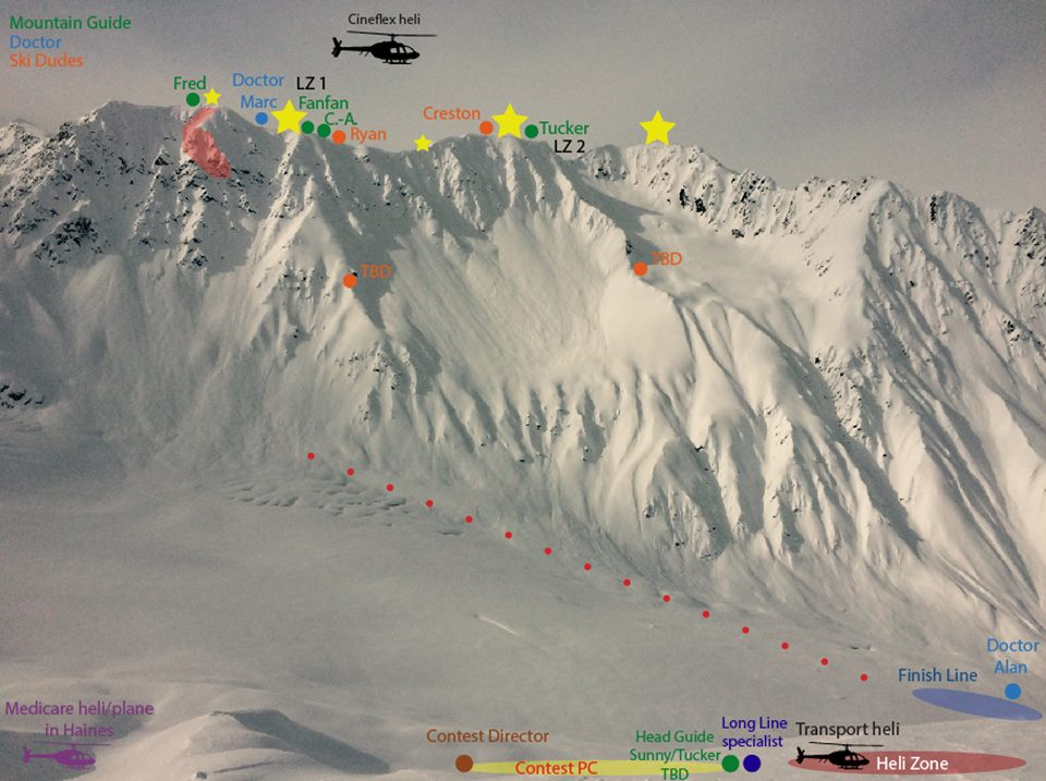The mountain Freeride has selected in Haines.