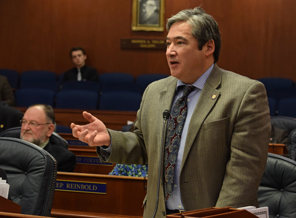 Rep. Sam Kito III on the floor of the Alaska House of Representatives, March 20, 2015. (Photo by Skip Gray/360 North)