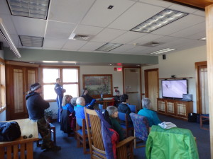 Haines residents and a medevac team watch the Freeride livestream.