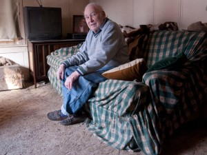 Bob Henderson at his home on Allen Road in 2013. John S. Hagen photo.