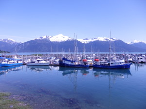 Boats docked at Haines small boat harbor.