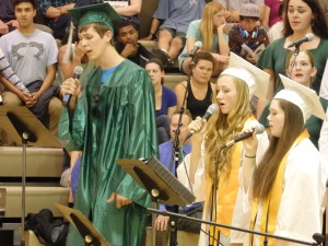 Seniors Kyle Klinger, Jennie Humphrey and Lindsey Jobbins. (Emily Files)