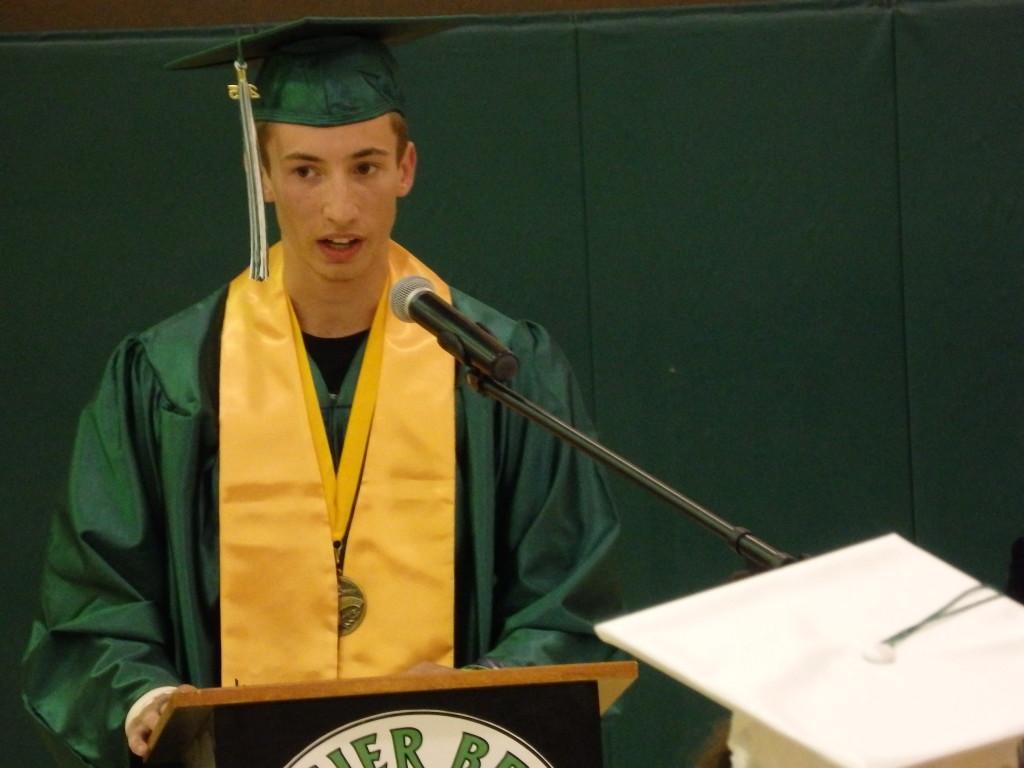 Valedictorian Keegan Sundberg. (Emily Files)