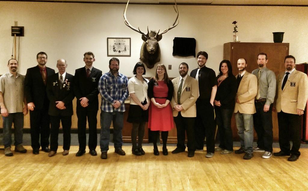 Skagway Elks members. (Courtesy Brittney Thomas)