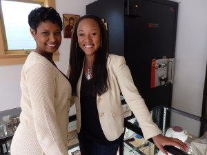Letishia Moore is a jewelry store employee at Milano, and Jennifer Ozuzun is an owner at The Local Jeweler. (Emily Files)