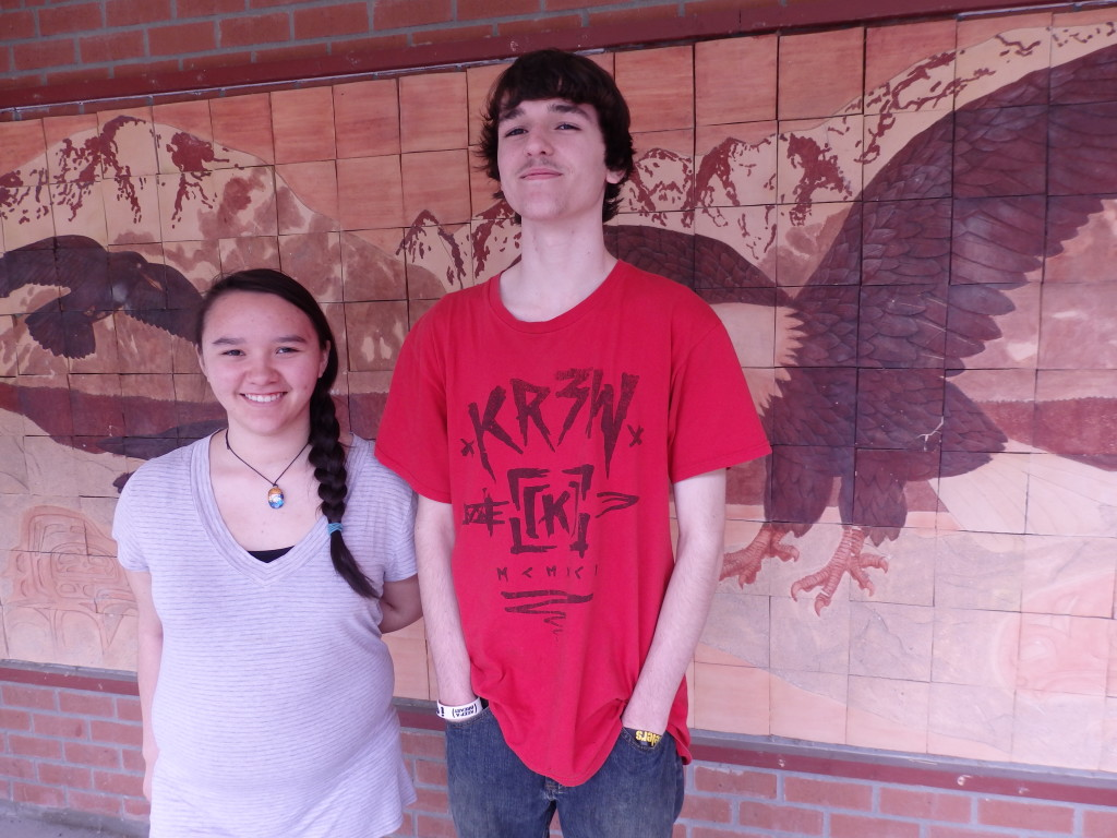 Kaitlyn Stevens and Joseph Lamberty are the only two high schoolers in their class this year.
