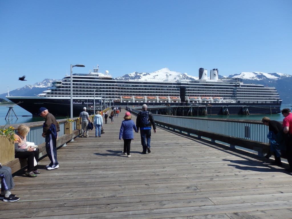 The Oosterdam cruise ship docked in Haines. (Emily Files)