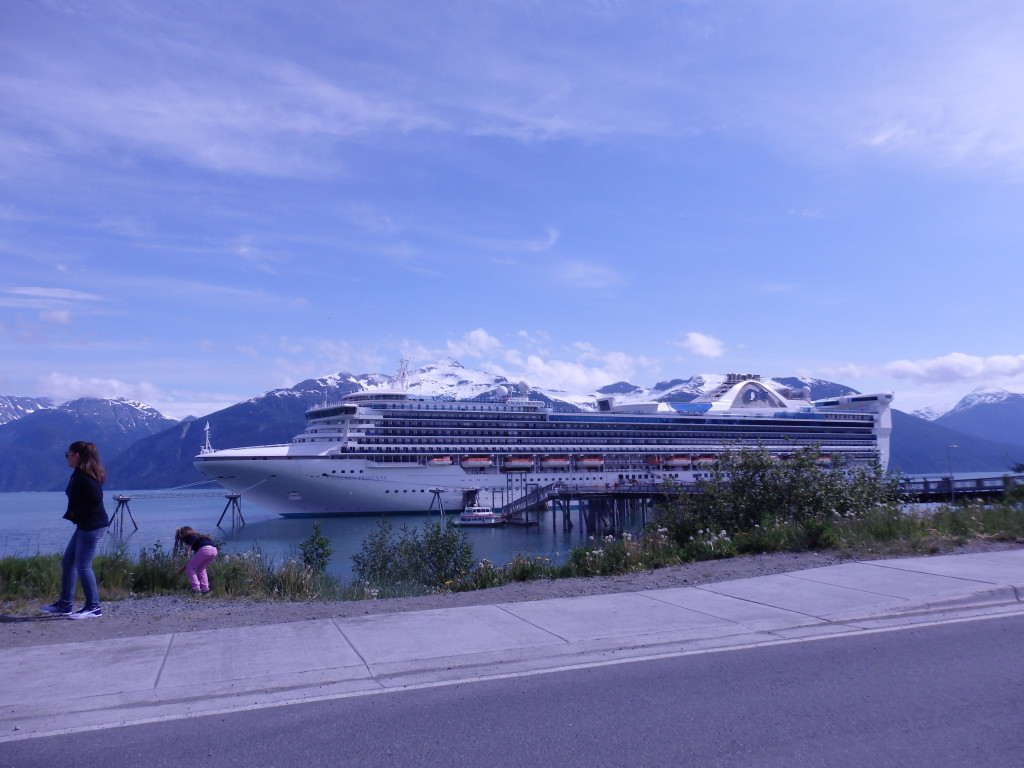 This Princess cruise ship benefitted from a docking fee waiver in Haines. (Emily Files)