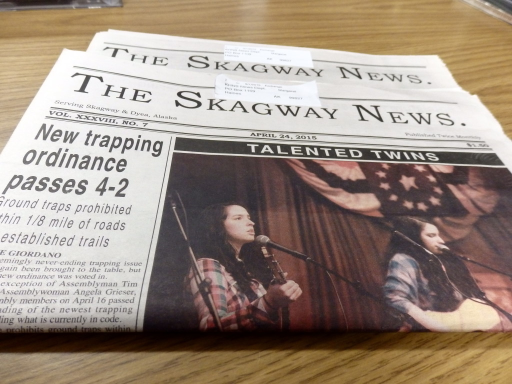 Recent additions of the Skagway News, before new owners took over.
