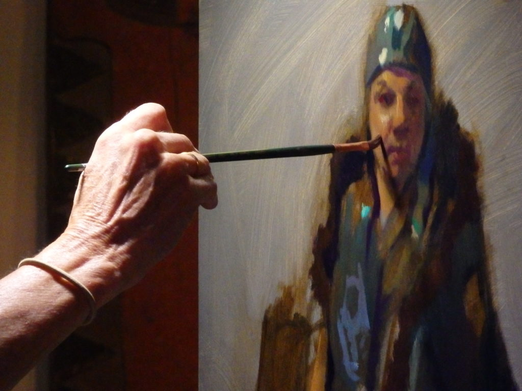 Artist workshop builds 'intimate' skill of portrait painting