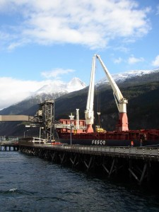 Skagway ore dock. (Courtesy AIEDA)
