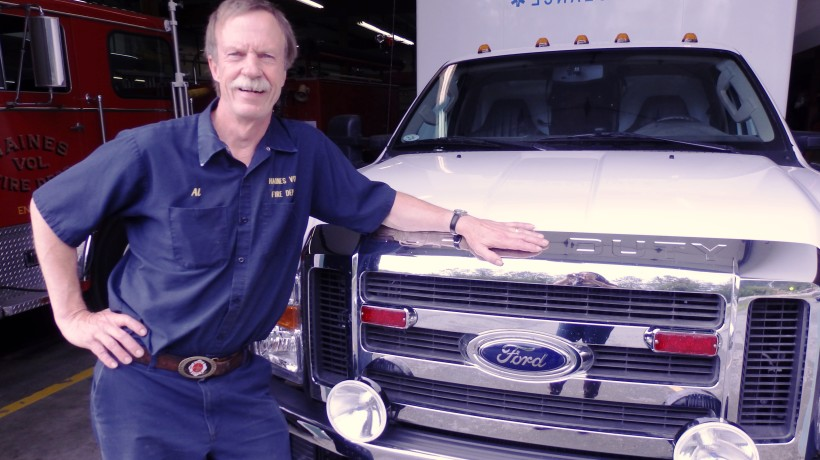 Al Badgley is retiring after nearly 35 years with the Haines Volunteer Fire Department. (Emily Files)