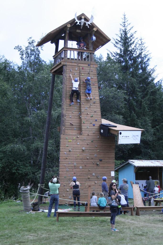 The newly constructed climbing wall. (Greta Mart)