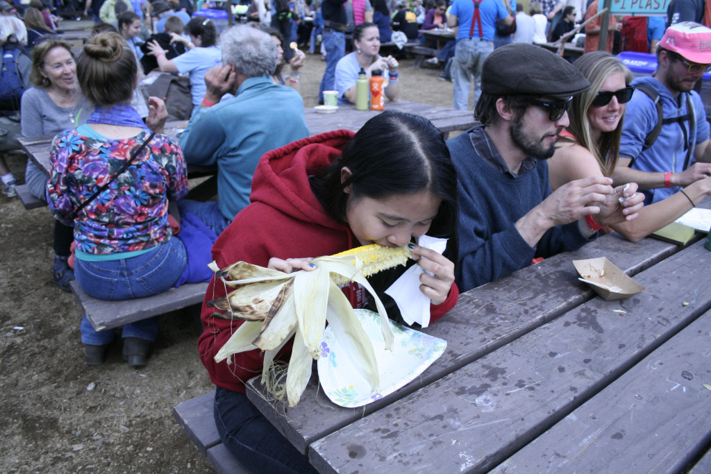 Fair-goers enjoyed food including Indian tacos, corn on the cob,  and salmon melts. (Greta Mart)