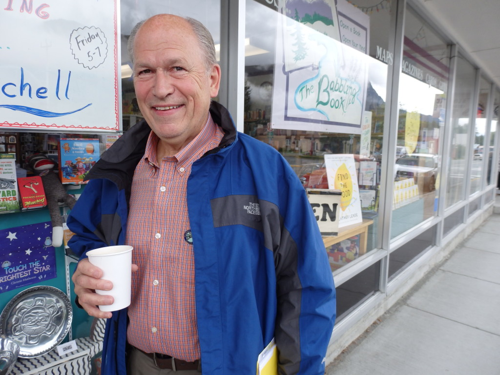 Gov. Bill Walker in Haines Thursday. (Emily Files)