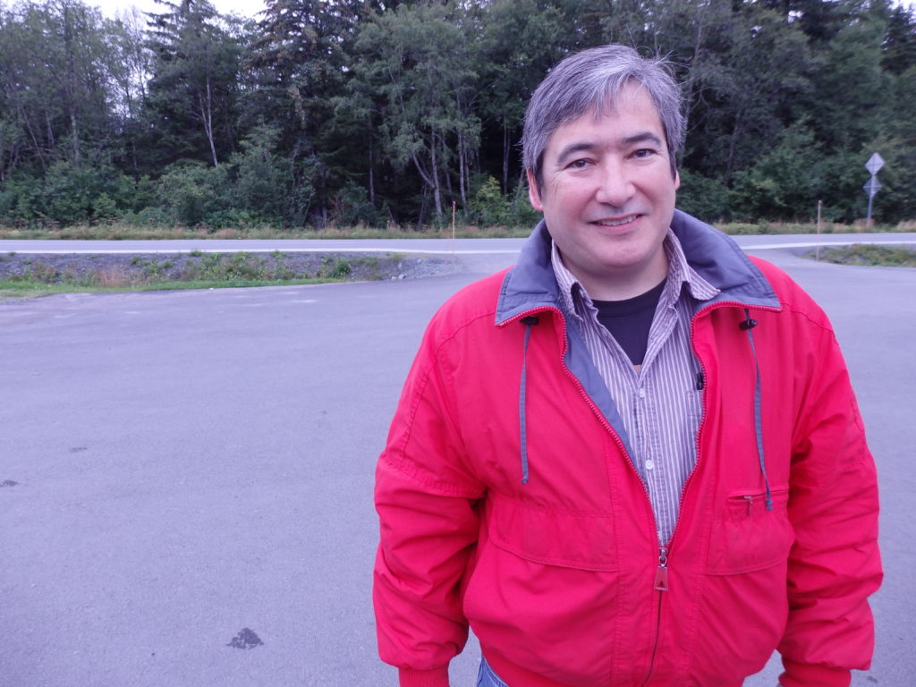 Rep. Kito in Haines Wednesday. (Emily Files)