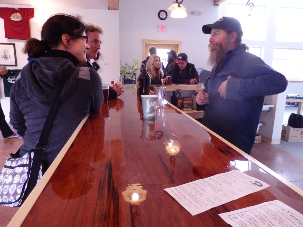 Co-owner Paul Wheeler at the new brewery Monday. (Emily Files)