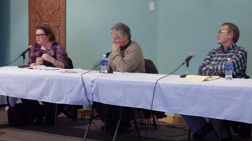 Candidates Margaret Friedenauer, Tresham Gregg and Jerry Lapp. (Emily Files)