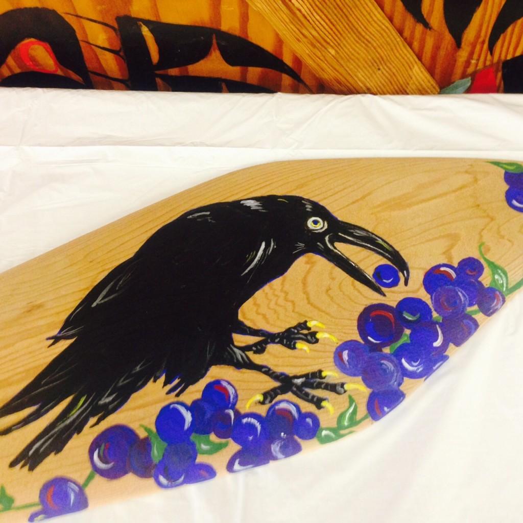 One of the blueberry-themed artworks in Klukwan. (Jillian Rogers)