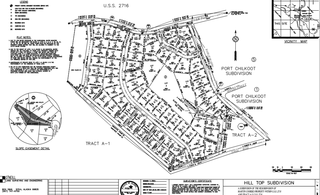 The Hill Top Subdivision design from a 1997 document. (Emily Files)