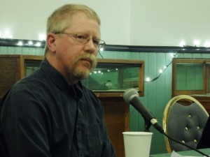 Incumbent mayoral candidate Mark Schaefer. (Emily Files)