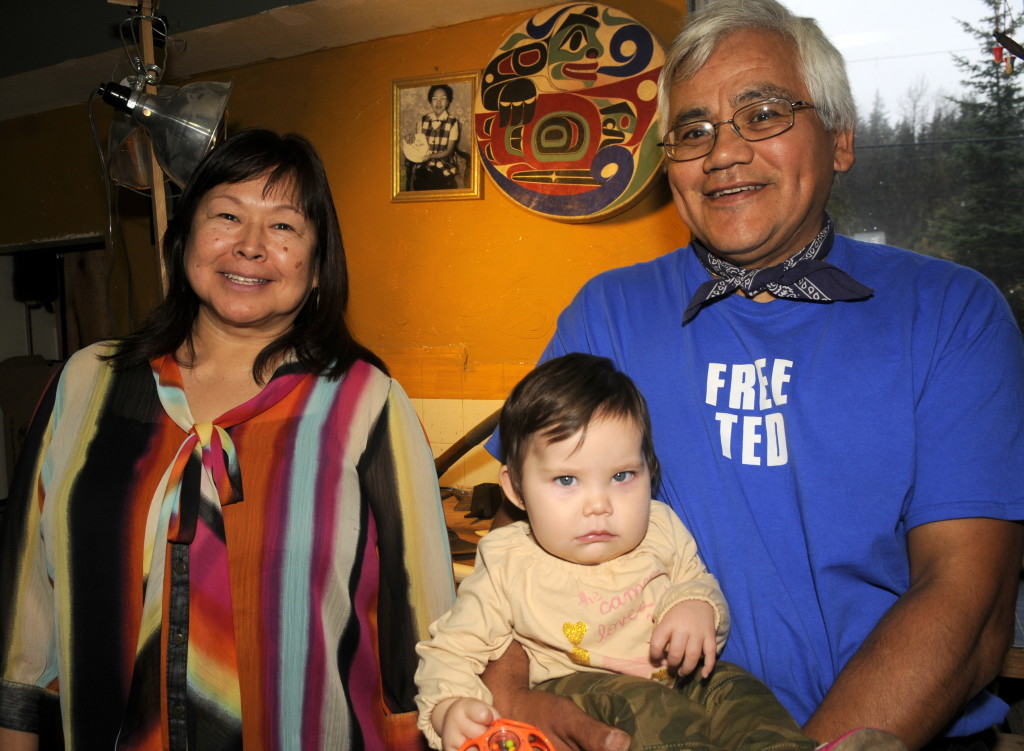 Darlene See, left, and Wayne Price are both working toward bringing together Tlingit clans in Hoonah. (Jillian Rogers)