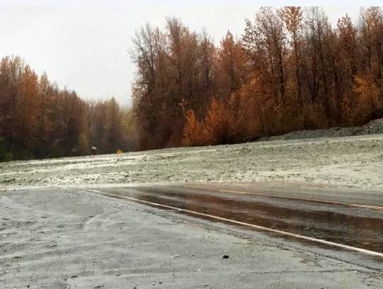 A mudslide at 18-mile Haines Highway. (Kaitlin Combs)