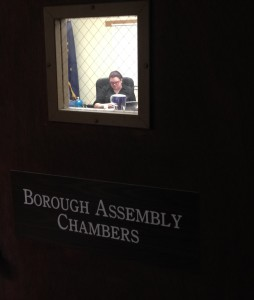 The Haines Borough Assembly in executive session in November 2015. (Jillian Rogers)