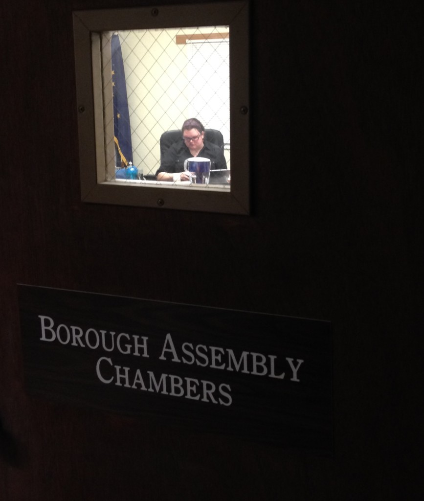 The Haines Borough Assembly went into executive session on Tuesday night to discuss manager Dave Sosa's contract. Afterward, the assembly voted to accept his resignation without prejudice. (Jillian Rogers)