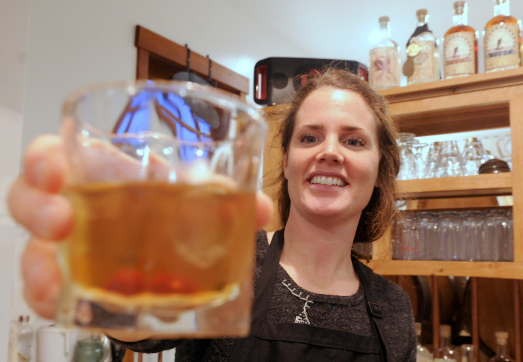 Tasting room manager Macky Cassidy. (Jillian Rogers)
