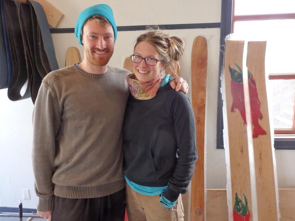Graham Kraft and Lindsay Johnson in their new Fairweather Ski Works location. (Emily Files)