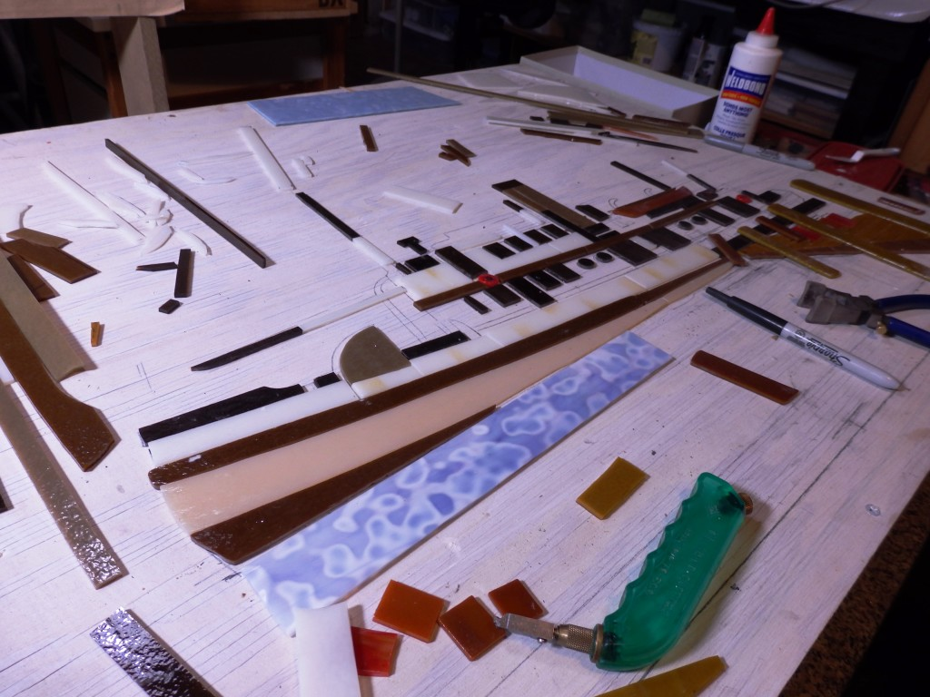 John Svenson's in-progress boat mosaic. (Emily Files)