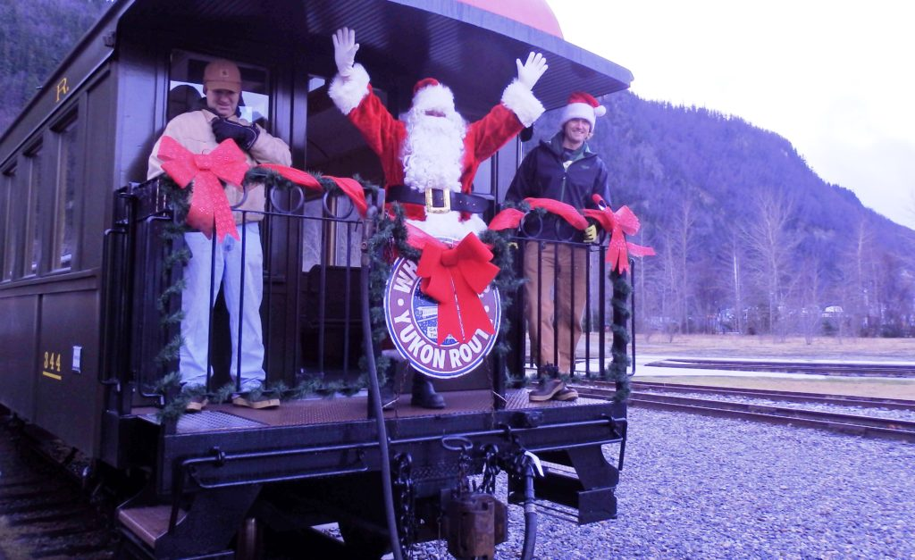 Skagway's annual Santa Train comes down the track this weekend