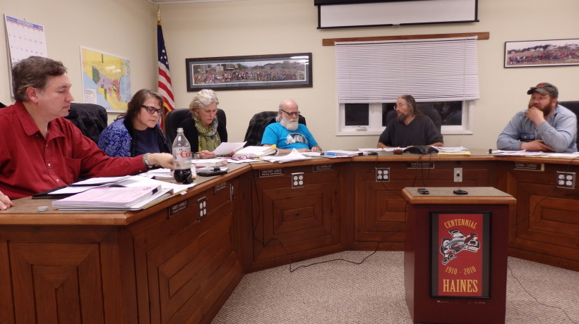 The Haines Planning Commission at a meeting in November 2015. (Emily Files)