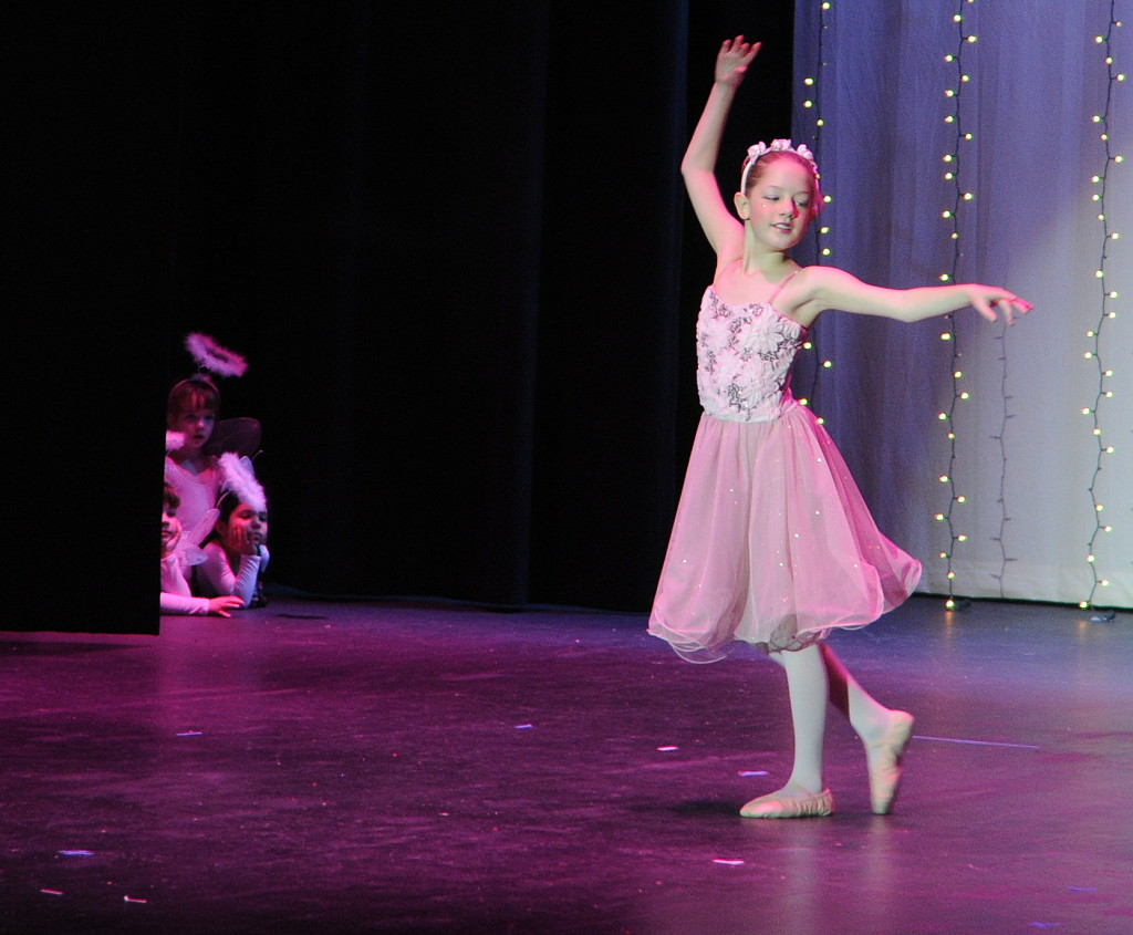 "Lucia Chapell dances to ""The Dance of the Sugar Plum Fairy."" (Jillian Rogers)"