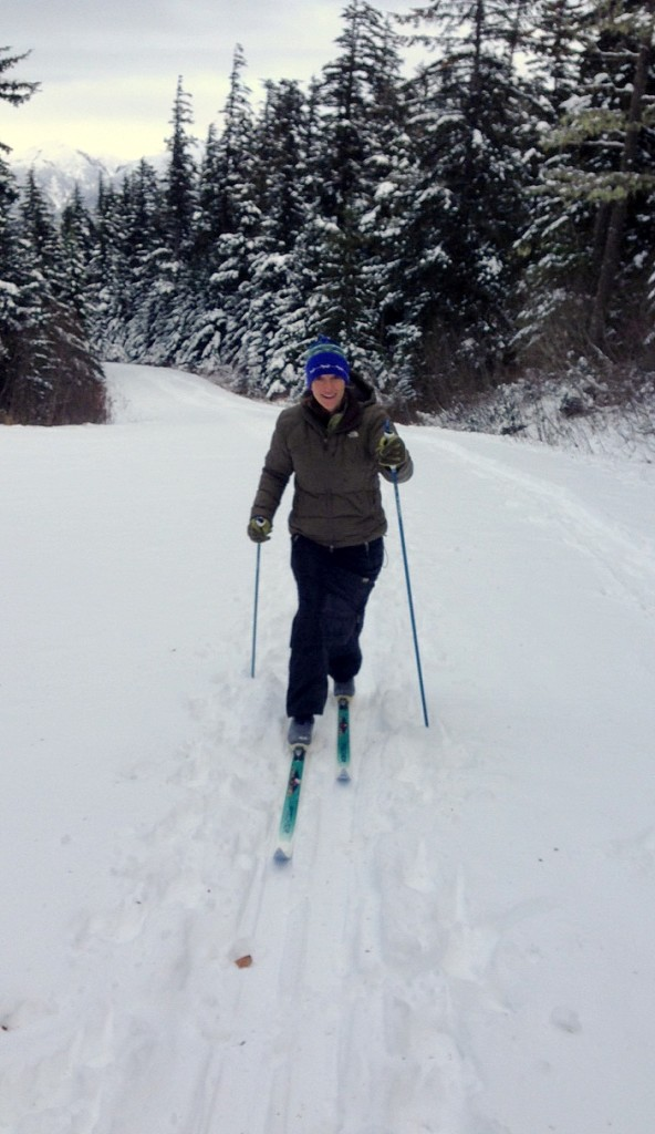 Some Haines' residents are hoping to change a local law that prohibits skiing on roads. (Jillian Rogers)