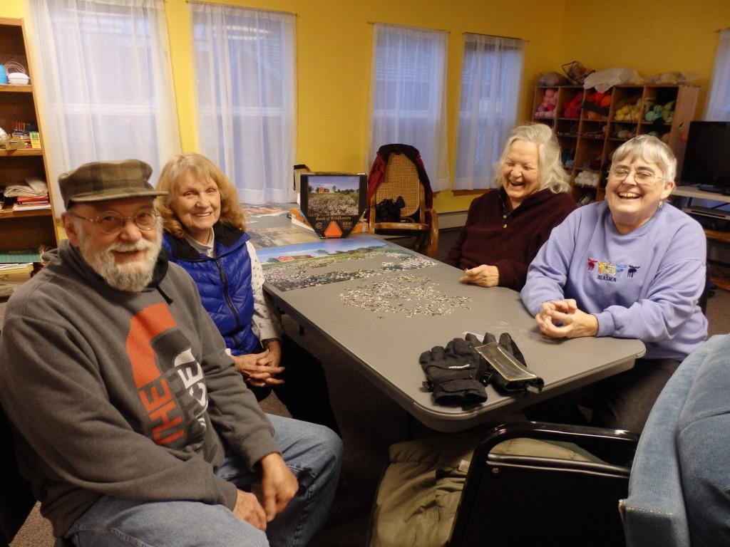 Michael Baish, Wilma Bagwell, Nola Lamken and Ginny Cochran. Basih, Lamken and Cochran are on the senior ad hoc committee. (Emily Files)